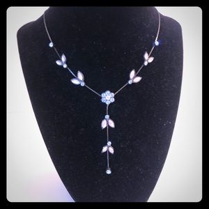 Crystal Blue Beaded Necklace